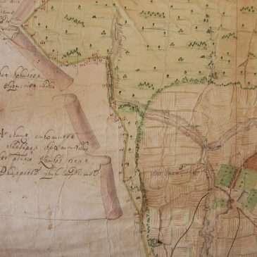 Село Холмы на старинной карте