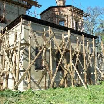 Восстановление стен Никольского придела